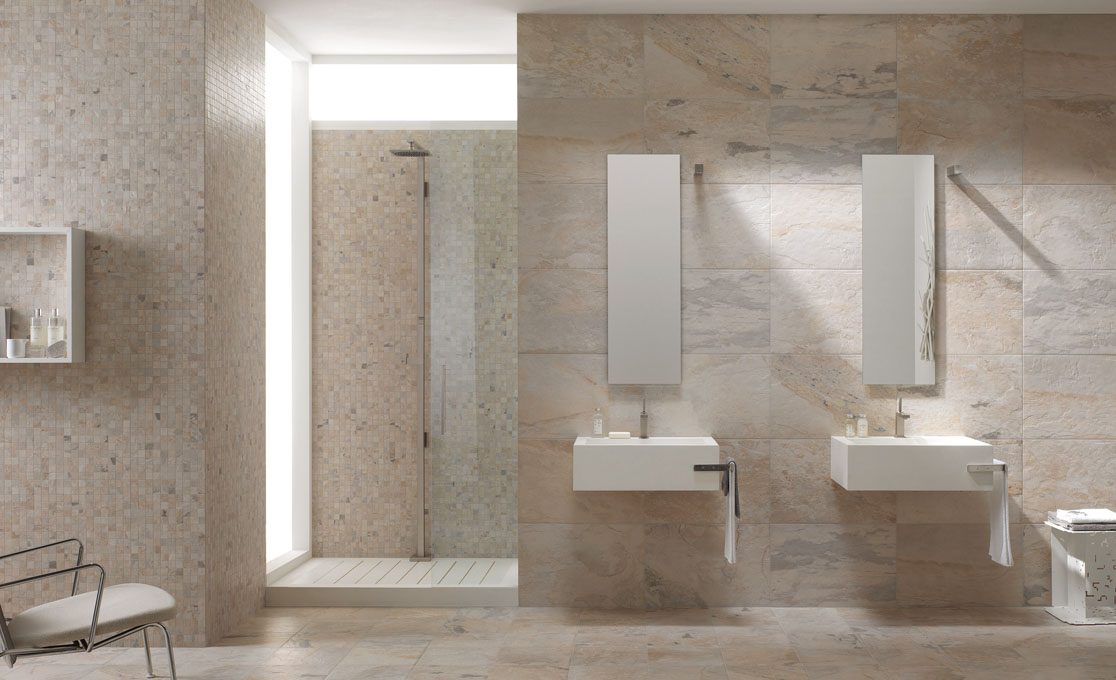Natural Slate range of porcelain tiles from unicomstarker - contact us for the full range or download their brochure