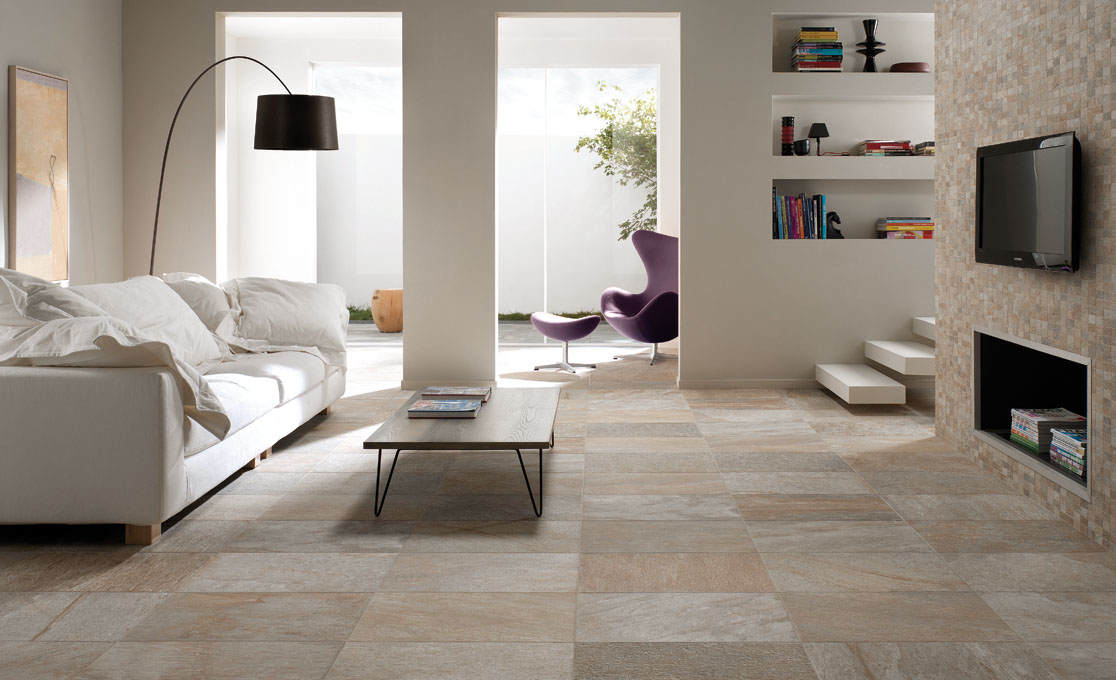 Quarzite range of porcelain tiles from unicomstarker - contact us for the full range or download their brochure